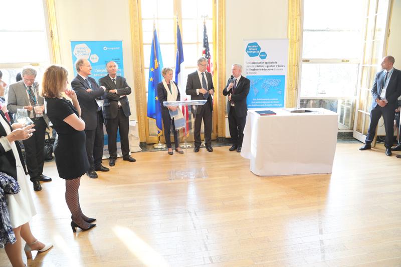 Signature de la convention de partenariat avec l'académie de Caen, New York, 10 avril 2017